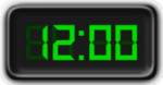 Clock Showing 12:00