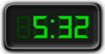 Clock Showing 5:32