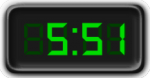 Clock Showing 5:51