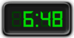 Clock Showing 6:48
