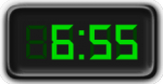 Clock Showing 6:55