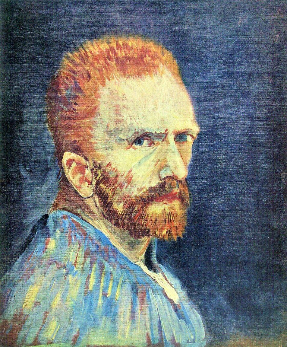 Vincent-van-Gogh-Self-Portrait-with-short-hair
